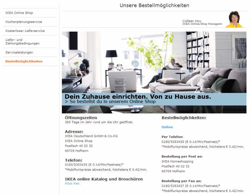 Bestellmöglichkeiten bei Ikea