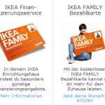 Bezahl- und Finanzierungsmöglichkeiten bei Ikea