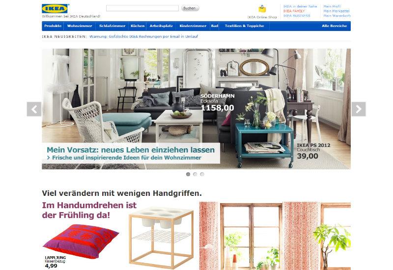 Startseite von ikea.de