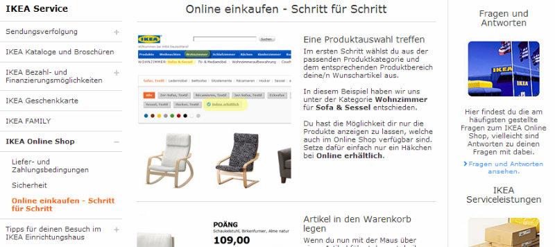 Online einkaufen - Schritt für Schritt Anleitung bei Ikea