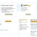 Amazon Kundenservice Seite
