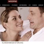 Woonio Kunden-Seite Interpreationsspielraum